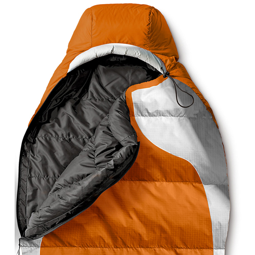Спальный мешок Eddie Bauer 1806 Snowline -7C Synthetic Insulation Sleeping Bag Orange Long