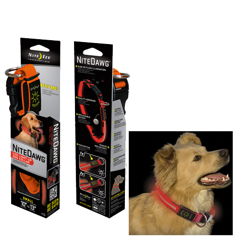 Ошейник светодиодный Nite Ize NiteDawng Led Dog Collar Small Orange 25.4-33cm (NND-03-19S)