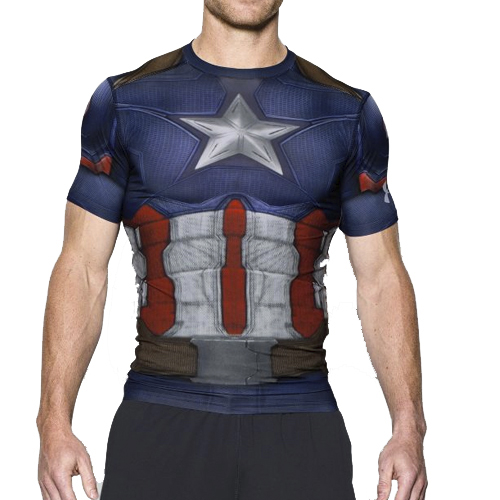 Футболка мужская Under Armour Alter Ego Captain America Compression Shirt (1273691-410) Size MD