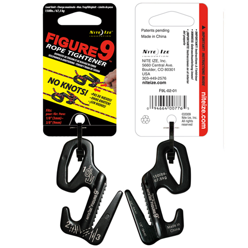 Крепление для веревки Nite Ize Figure 9 Large 67.5kg Black (F9L-02-01)