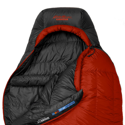 Спальный мешок Eddie Bauer 2293 Karakoram -18С StormDown Sleeping Bag Dk Lava Size Long