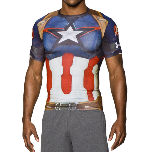 Футболка мужская Under Armour Alter Ego Captain America Compression T-Shirt (1268262-410) Size MD