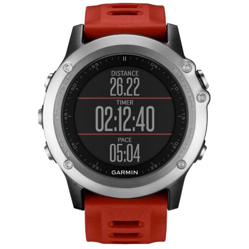 GPS-навигатор Garmin Fenix 3 silver (red)